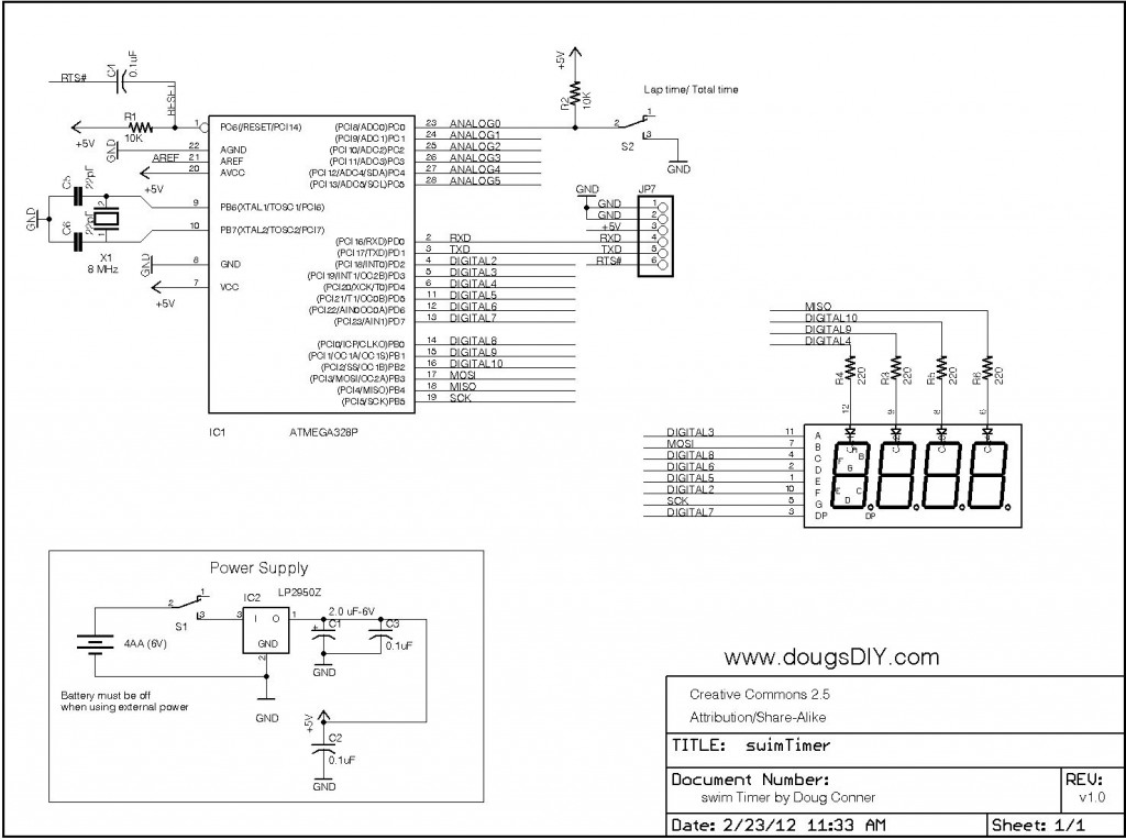 swimTimer Schematic bw