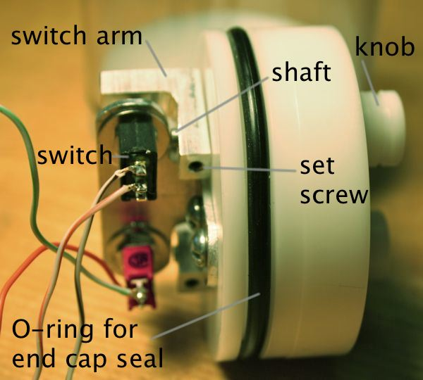 switch arm and knob